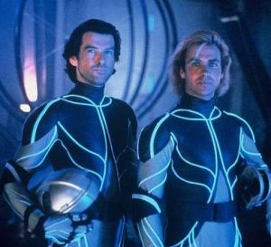 Jeff Fahey (right) in The Lawnmower Man