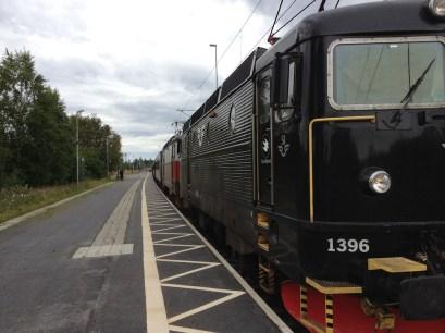 Nattåget från Göteborg gör uppehåll i Bastuträsk