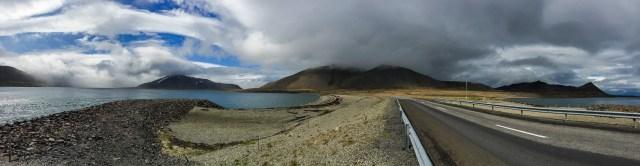 Himmel nära Bjarnarhöfn på Snæfellsnes.