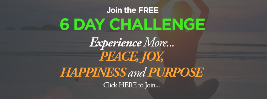 6 Day Challenge, More Peace, Joy, happiness and Purpose