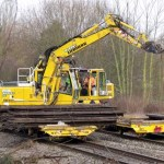 Rail-mounted lifter clears remaining metawork by daylight