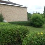 Lawns and shrubs around Methodist Church