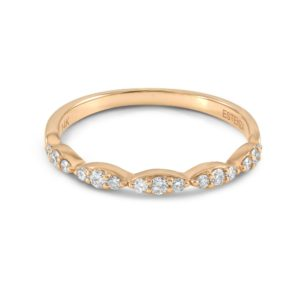 LARGE - Diamond Stackable Rose Gold Band