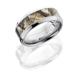 CCCAMO9B15S RTAP - Cobalt Chrome 10mm Flat, Square Band with 6mm Zirconium Inlay