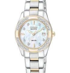 EW1824 57D 1024x1024 - Citizen Ladies Eco-Drive Regent 100M WR - 28 Diamonds - MOP Dial - Two-Tone