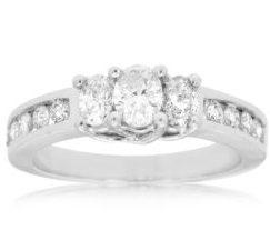 WC2749 - Three-Stone Oval Diamond Ring