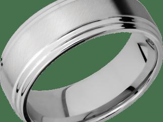CC8F2S FINISHANGLE SATINPOLISH IMAGE0011 - Cobalt Chrome Angle Satin Finish Men's Ring