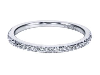Gabriel 14k White Gold Contemporary Straight Wedding BandWB6710W44JJ 11 - 14k White Gold Straight Diamond