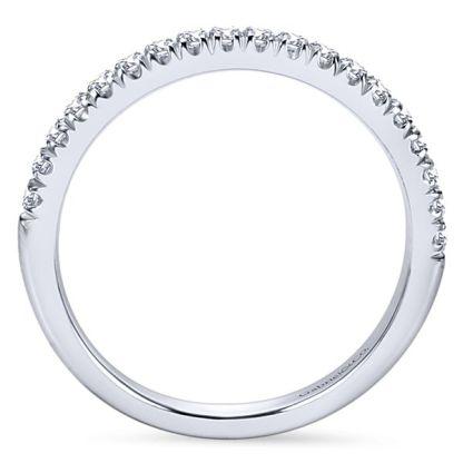 Gabriel 14k White Gold Contemporary Straight Wedding BandWB6872W44JJ 21 - 14k White Gold Round Straight Diamond