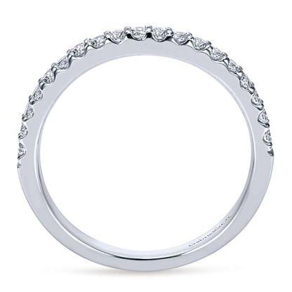 Gabriel 14k White Gold Contemporary Straight Wedding BandWB7510W44JJ 21 - 14k White Gold Round Straight Diamond