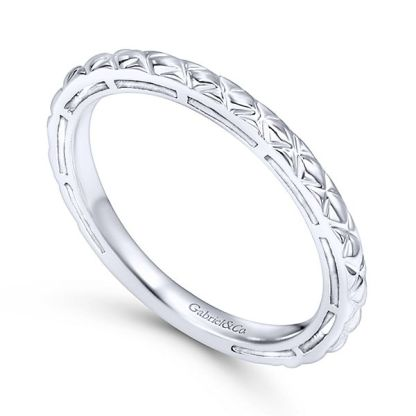 Gabriel 14k White Gold Stackable Ladies RingLR4583W4JJJ 31 - 14k White Gold Stackable Ladies Ring