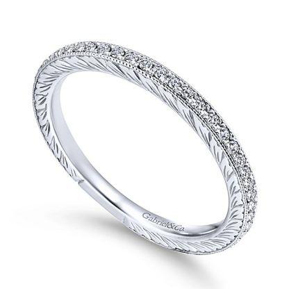 Gabriel 14k White Gold Stackable Ladies RingLR4793W45JJ 31 - 14k White Gold Stackable Diamond Ladies' Ring