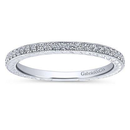 Gabriel 14k White Gold Stackable Ladies RingLR4793W45JJ 41 - 14k White Gold Stackable Diamond Ladies' Ring