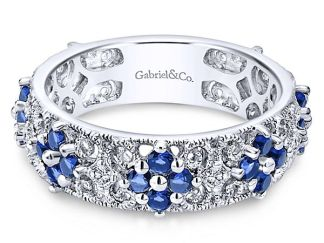 Gabriel 14k White Gold Stackable Ladies RingLR4850W45SA 11 - 14k White Gold Stackable Diamond Ladies' Ring