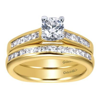 Gabriel 14k Yellow Gold Contemporary Straight Wedding BandWB3965Y44JJ 41 - 14k Yellow Gold Straight Diamond Wedding Band