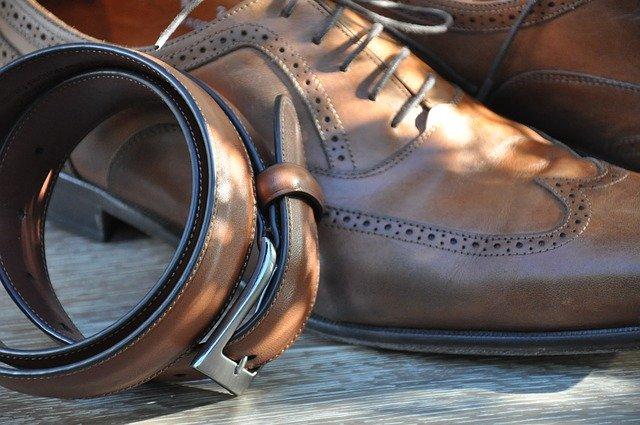 入園式の父親コーデ おすすめポイント:靴とベルト