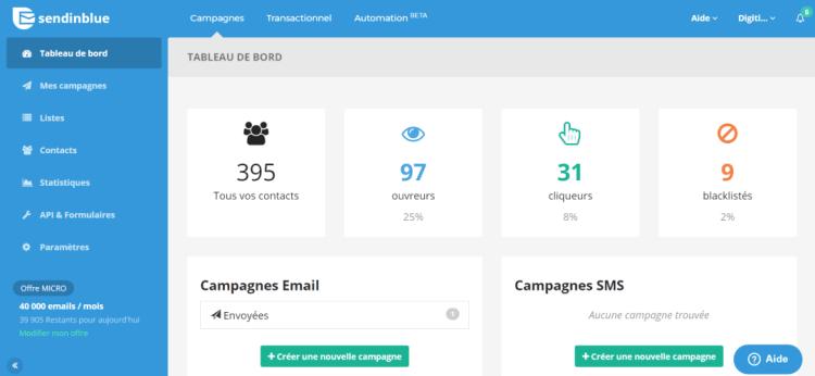 Avis sendinblue automatisation approfondie des emails