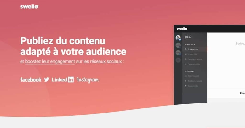 image de présentation de l'outil instagram swello, le concurrent français