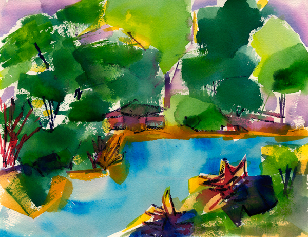 landscape expression painting