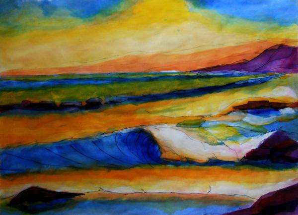 full sheet watercolor painting
