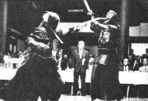 Furuya sensei executing tsuki at the Kyoto Taikai in the 1970s.