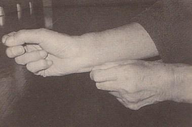 Move the hands into kamae