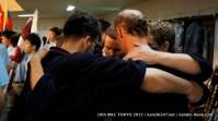 Ireland team hug