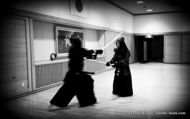 The only picture I have with me doing kendo with T-sensei