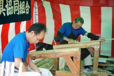 Shinai craftsmen