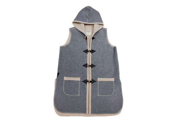 Sleeveless Duffel Coat with Hood