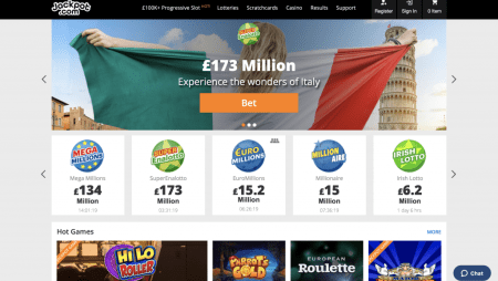 Bet on the world's biggest lotteries at Jackpot.com