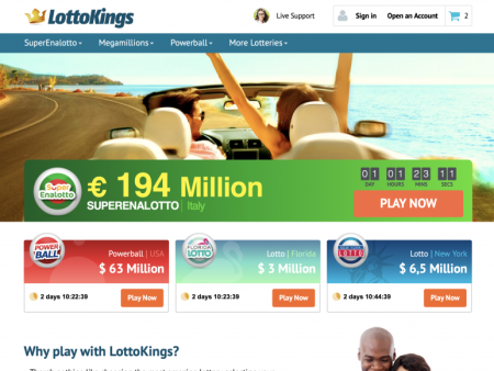 LottoKings. True Lottery Royalty!