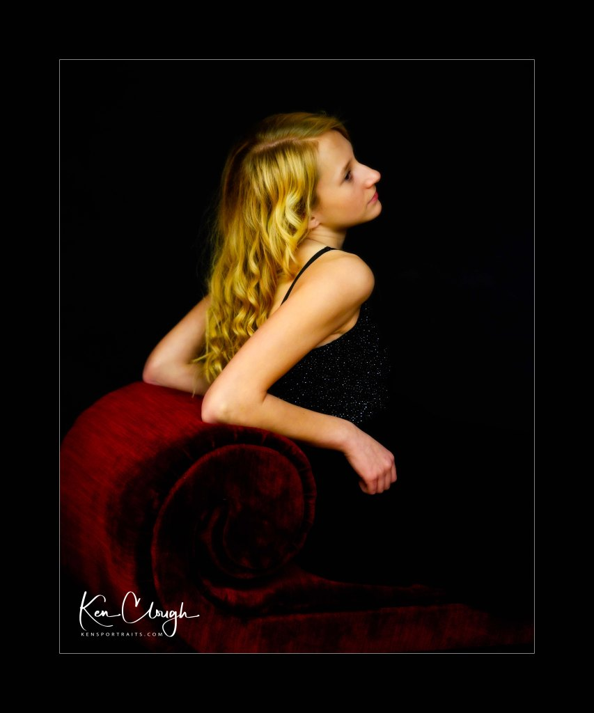 Golden Locks by Kens Portrait Photography. This is a wonderfully dramatic image of Lauren from a recent photo shoot with my fellow members of the Capital Champlain Section of the Professional Photographers Society of New York State. Professional Photographers Society of New York State (PPSNYS) is comprised of 12 different local sections. Our section is Capital Champlain, and our main purpose and goal is education. If you are interested in becoming a better photographer and connecting with others who have similar interests, we invite you to join us as we strive to educate our members and the public about photography. At our local meetings, we invite instructors from all over New York State and beyond to visit and share their experience and knowledge in varied aspects of the field: studio management, editing software, portraiture, business skills, and more.  We also host critiques and competitions to help hone our skills in image making. The studio for Ken's Portrait Photography is located right on the southwest corner of West Capital Park in Albany, NY. In addition to what can be created in the studio, this historic and architecturally rich area provides beautiful backdrops for acting headshots, professional portraits, couple portraits, senior portraits, family portraits, engagement portraits, and wedding portraits.