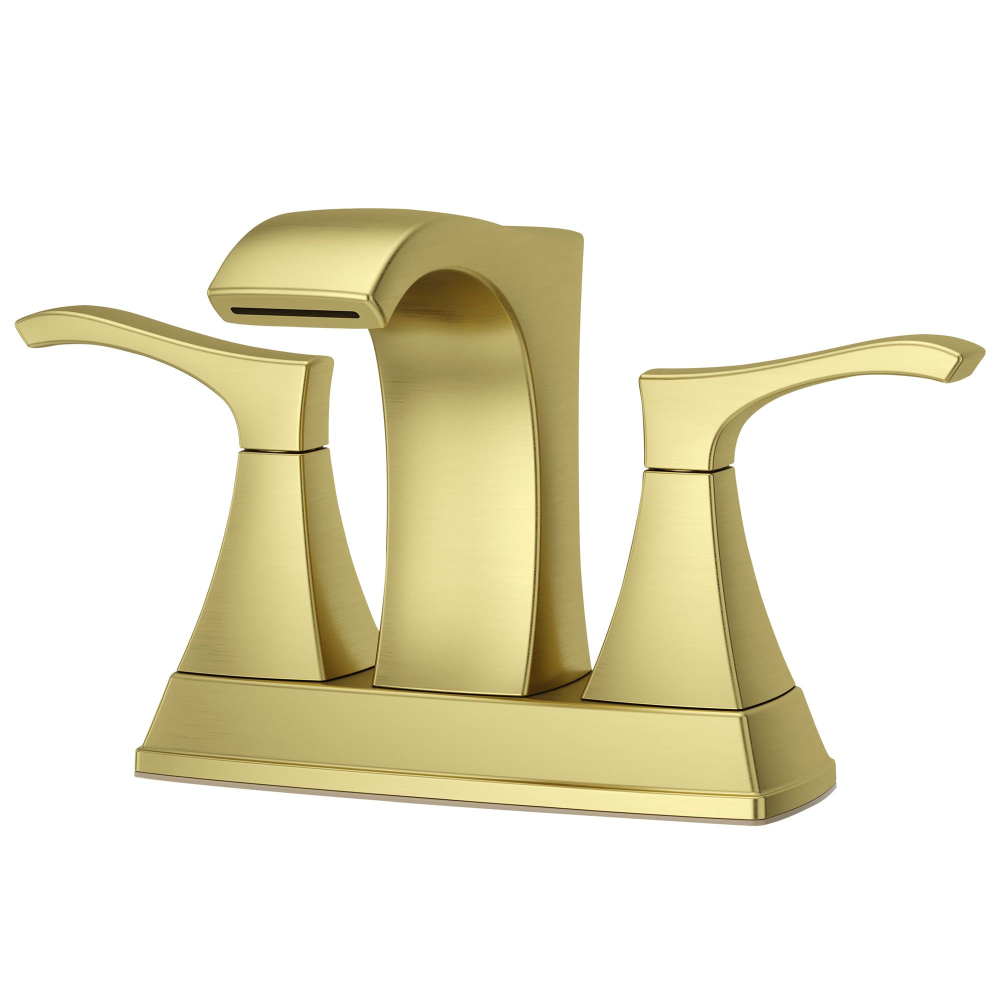 lavatory faucet venturi 4 two handle brushed gold