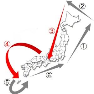 日本一周ルート-Japan Nomad (5)
