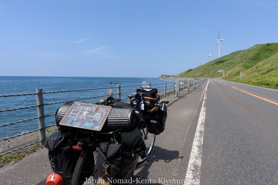 自転車日本一周81日目(オロロンライン)-Japan Nomad (17)