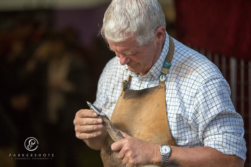 Tool making at South of England Show