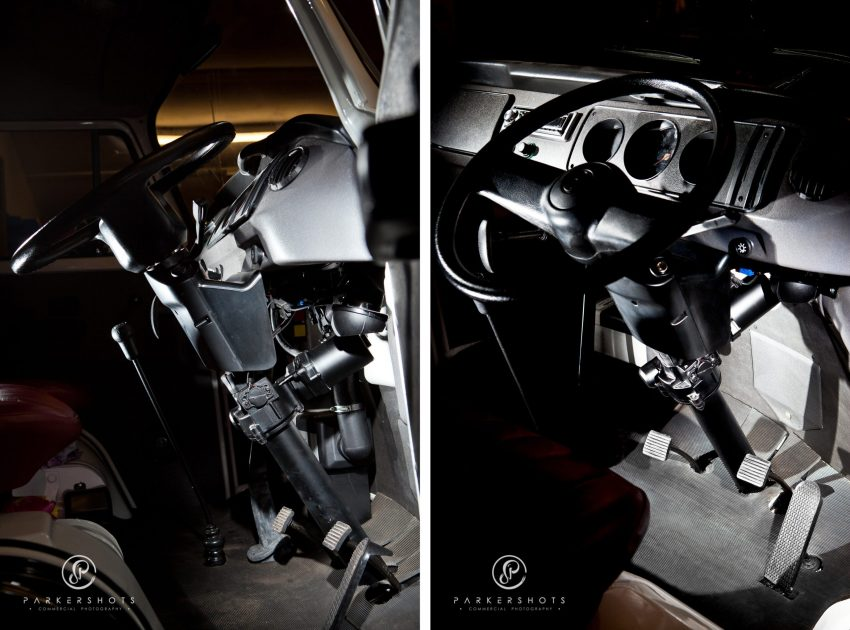 Commercial photograph of Lite-Steer Steering System