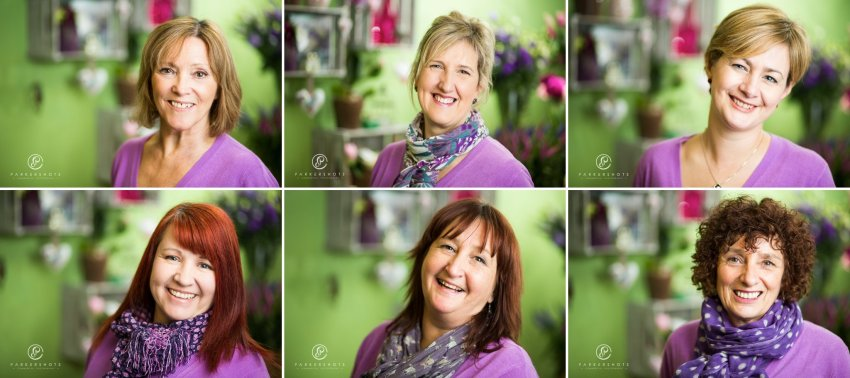 Commercial photography of florist in tunbridge wells