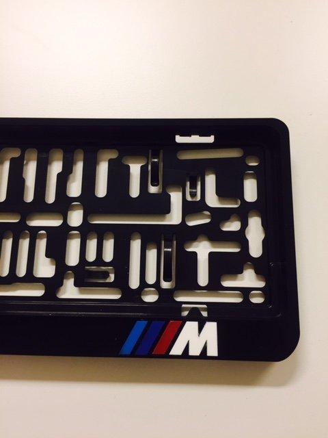 bmw kentekenplaathouder met M logo