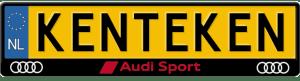 Audi-sport-rood-kentekenplaathouder