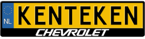 Chevrolet-midden-kentekenplaathouder