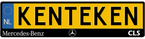 Mercedes-cls-kentekenplaathouder