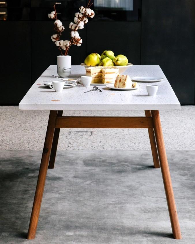 kentholz terrazzo table collection