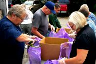 June 18, 2015-- Union volunteers distributed over 5,000 pounds at the June food truck, Grace CRC