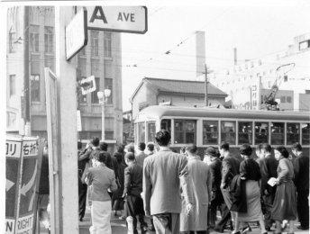 Shimbashi, Tokyo Japan Streetcar 1955