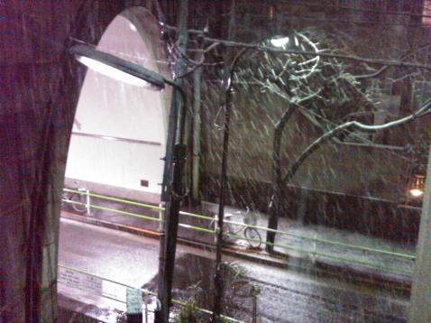 Tokyo night tunnel snow 3