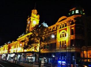 1 Flinders Street Station at night