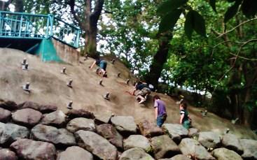 4 - Edogawa Park rock climbing