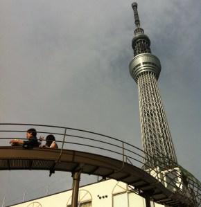 Roller slide near Tokyo Sky Tree.